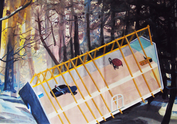 2012, Acrylic on canvas (Roll Painting), 165 x 300 cm
